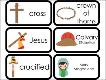 23 Printable At the Cross Flashcards. Preschool-Kindergart