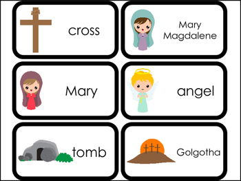 23 Printable The Resurrection Flashcards. Preschool-Kinder