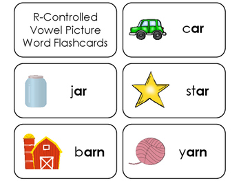 23 R-Controlled Vowel Picture Word Printable Flashcards. K