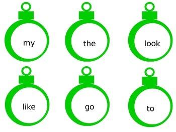 23 Sight Word Ornaments