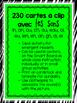 230 Cartes à clip avec les sons (Clip-it Cards: French Sou