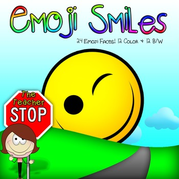 24 Emoji Faces {The Teacher Stop}
