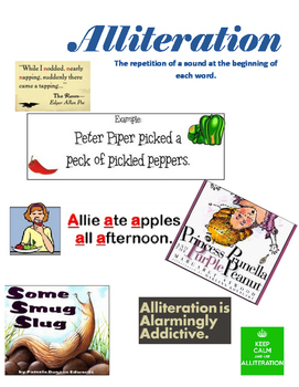 24 Figurative Language Study Sheets/Posters - Vivid and Colorful