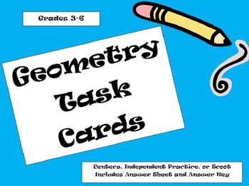 24 Geometry Task Cards-Line Segments,Rays,Parallel Lines,P