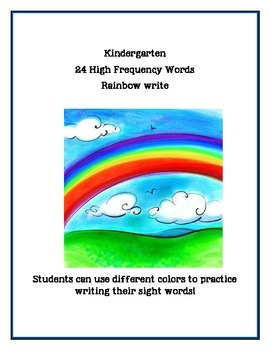 24 High Frequency Words- Rainbow Write