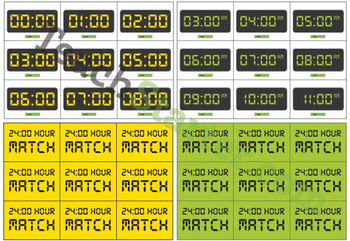 24-Hour Time Memory Game