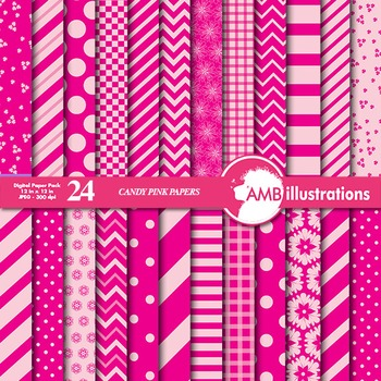 Digital Papers Mix and Match Candy Pink digital paper, che