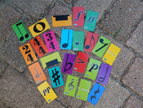 24 Music Notation Cards / MrMikesMusicMats