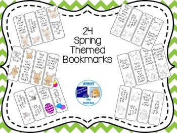 24 Spring Themed Bookmarks