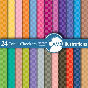Digital Papers - Checkered Papers and Backgrounds, digital