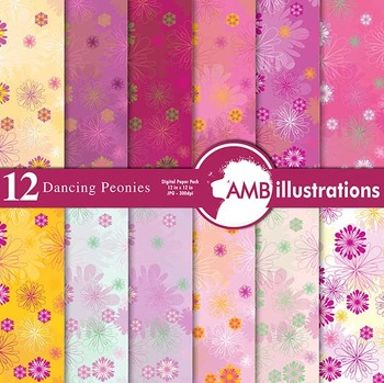 Digital Papers - Victorian Style Digital Paper and Backgro