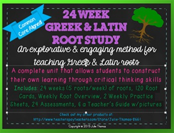 24 Week Greek & Latin Roots Study Unit