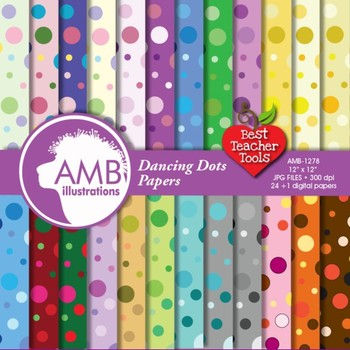 Digital Papers - Dot pattern digital paper and backgrounds