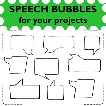 24 hand drawn speech bubbles to use in your projects