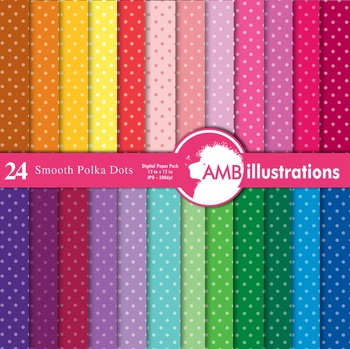 Digital Papers - Polka dot papers and backgrounds, AMB-411