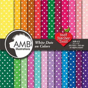 Digital Papers polkadot patterned digital paper, AMB-410