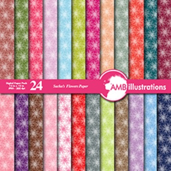 Digital Papers - Floral digital Paper and Backgrounds, Flo