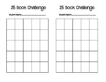 25 Book Challenge Sticker Chart