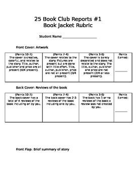 25 Book Club Reports