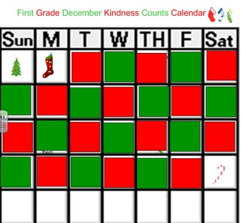 25 Days of Kindness Chart