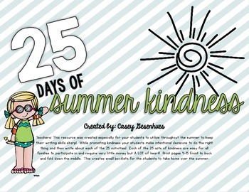 25 Days of Summer Kindness