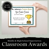 28 Editable Classroom Awards, Bookmarks & Activity for Mid