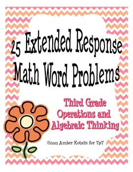 25 Extended Response Math Word Problems for Operations and