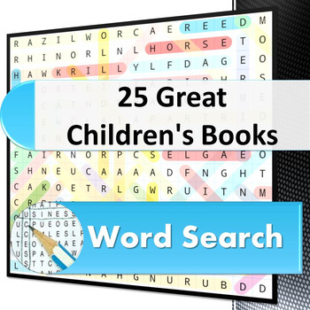 25 Great Children's Books word search puzzle