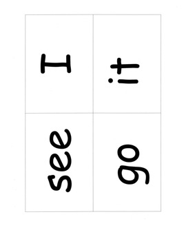 Sight Words Cards, 25 High Frequency Words: Games, Assessm