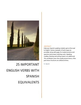 25 Important English Verbs for Spanish Speakers