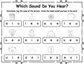 25 Short Vowel Printable Practice Activities