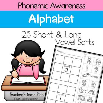 Phonemic Awareness - 25 Short and Long Vowel Sorts