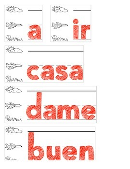 25 Spanish High Frequency Words (Fountas and Pinnell)