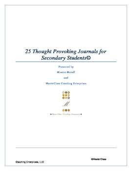25 Thought Provoking Journals for Secondary Students