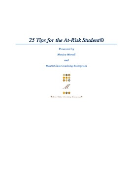 25 Tips for the At-Risk Student