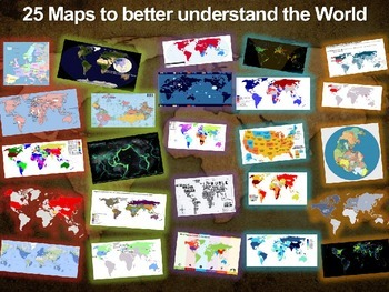 25 World Maps to understand our world: PPT, guiding questi