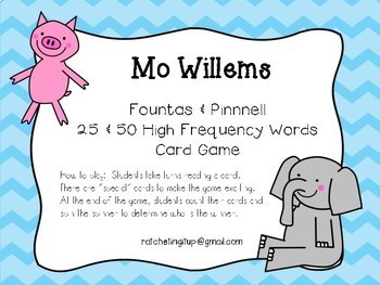 25 and 50 High Frequency Words - Fountas and Pinnell - Mo
