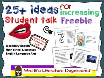 25+ ideas for more student talk
