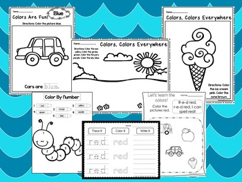 250 Printable Preschool Learn Our Colors Worksheets. Homes