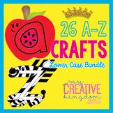26 A - Z Lower Case Alphabet Letter Craft Bundle (Journey'