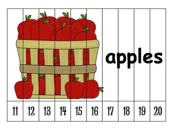 26 Alphabet Numbers Order Puzzles (11-20)