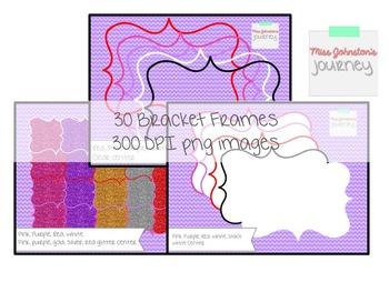 Valentine Themed Bracket Frames {30 pieces}