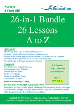 26-IN-1 BUNDLE - 26 Lessons - A to Z (Bundle 3) - Nursery