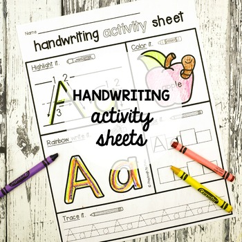 26 NO PREP Handwriting Activity Sheets