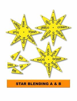 Star Blending A & B Manipulatives