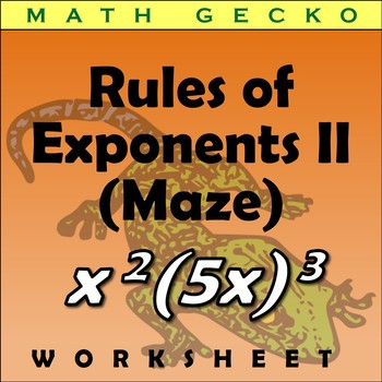 #263 - Rules of Exponents Maze (Easter Bunny)