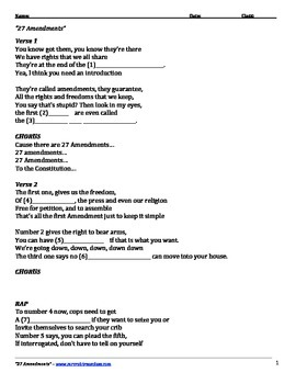 27 Amendments Lyrics