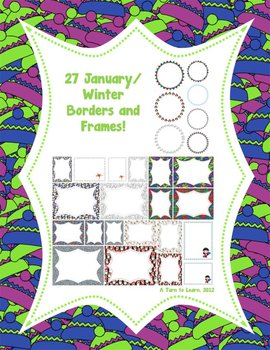 27 January/Winter Borders and Frames!