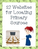 27 Websites for Locating Primary Sources