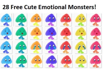 28 Free Cute Emotional Monsters Clip Art
